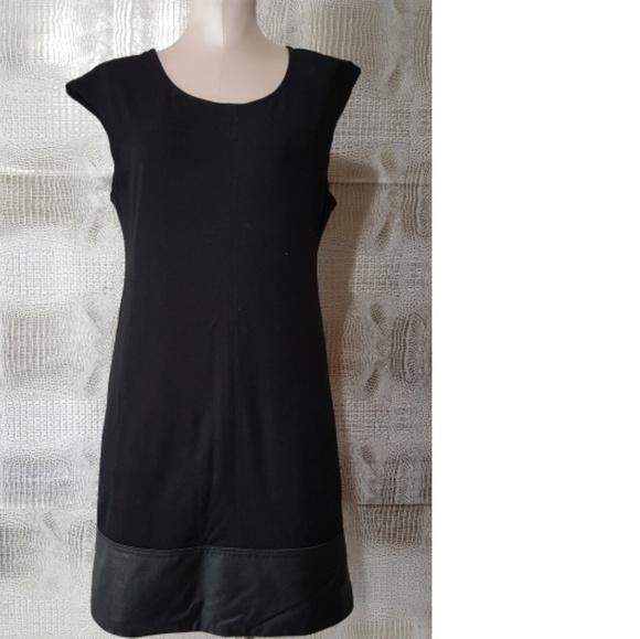 Sanctuary Dresses Edgy Conservative Little Black Dress Leather